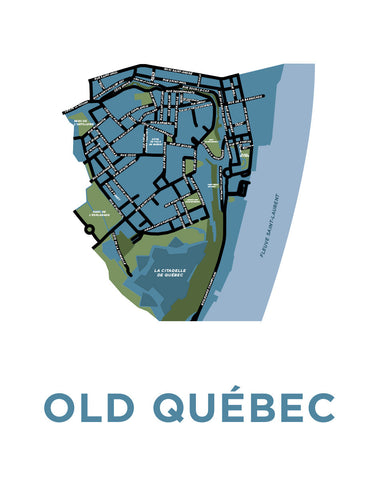 Old Québec Neighbourhood Map