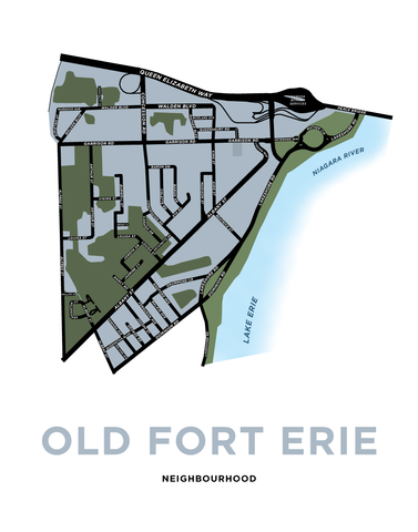 Old Fort Erie Map Print
