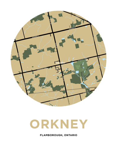 Orkney Map Print