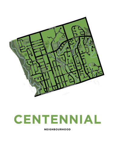 Centennial Neighobourhood Map Print (Oshawa)
