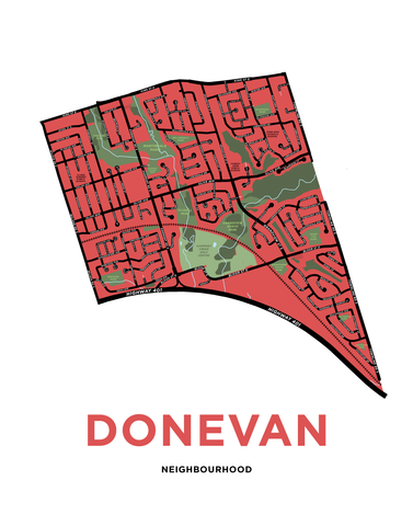 Donevan Neighbourhood Map Print