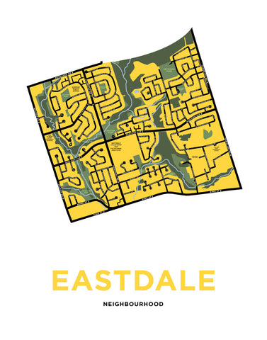 Eastdale Neighbourhood Map Print (Oshawa)