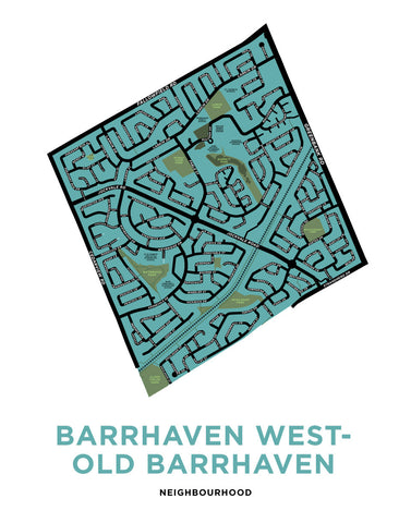 Barrhaven West-Old Barrhaven Neighbourhoods Map Print