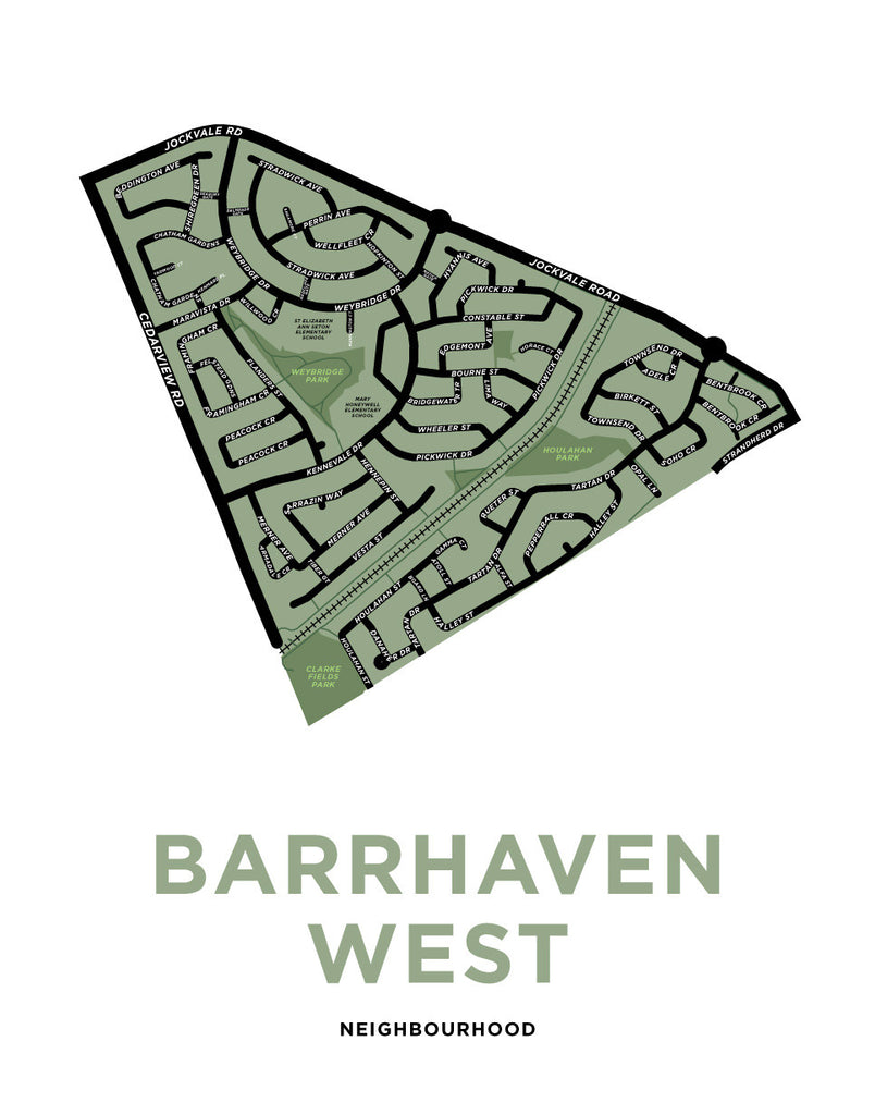 Barrhaven West Neighbourhood Map Print