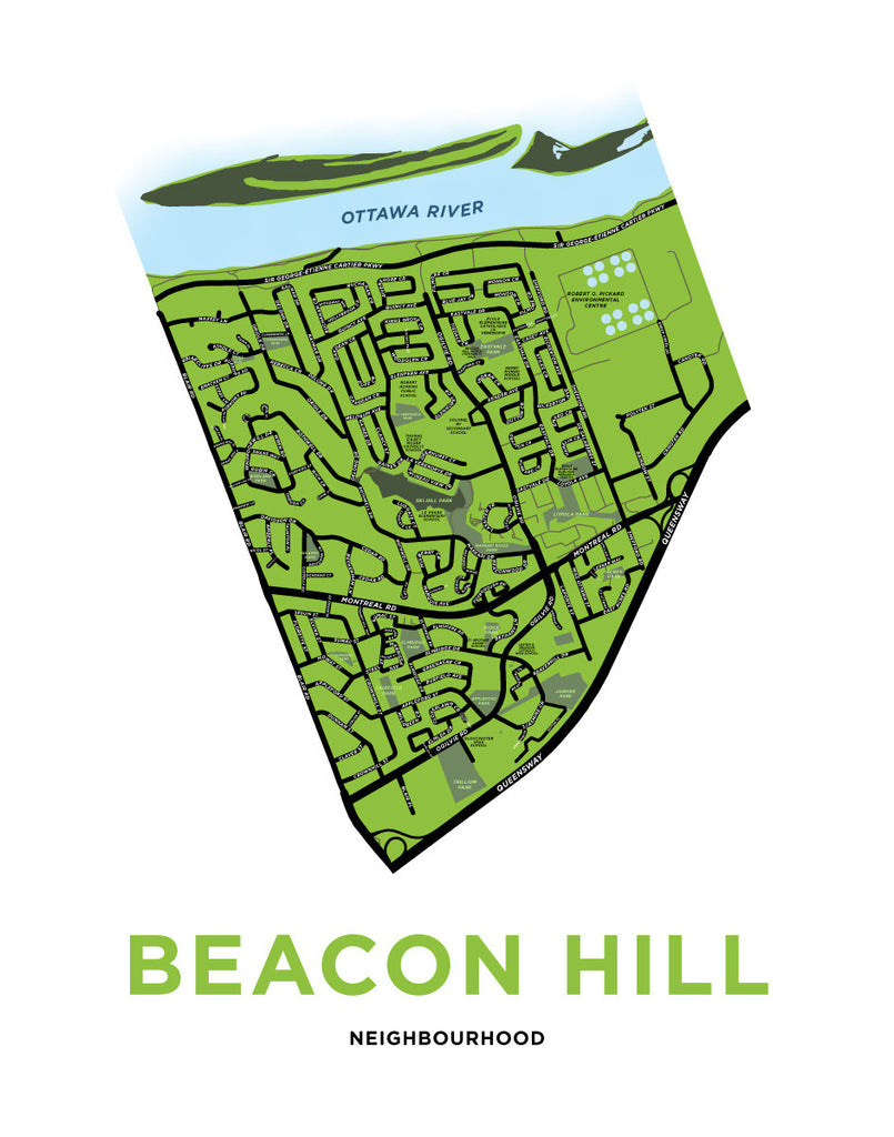 Beacon Hill Neighbourhood Map Print
