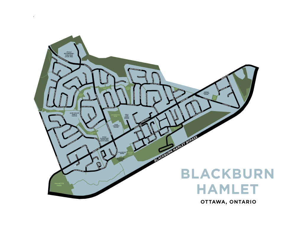 Blackburn Hamlet Map Print