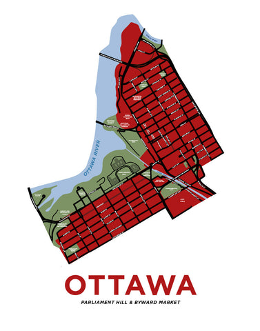 Ottawa - Byward Market and Parliament Hill Map