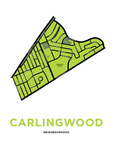Carlingwood Neighbourhood Map Print
