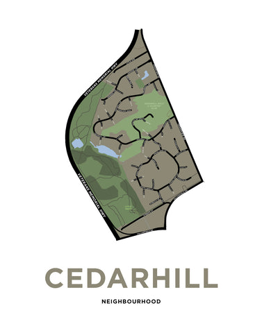 Cedarhill Neighbourhood Map Print