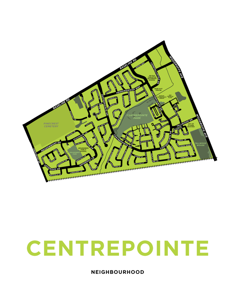 Centrepointe Neighbourhood Map Print