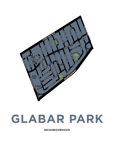 Glabar Park Neighbourhood Map Print