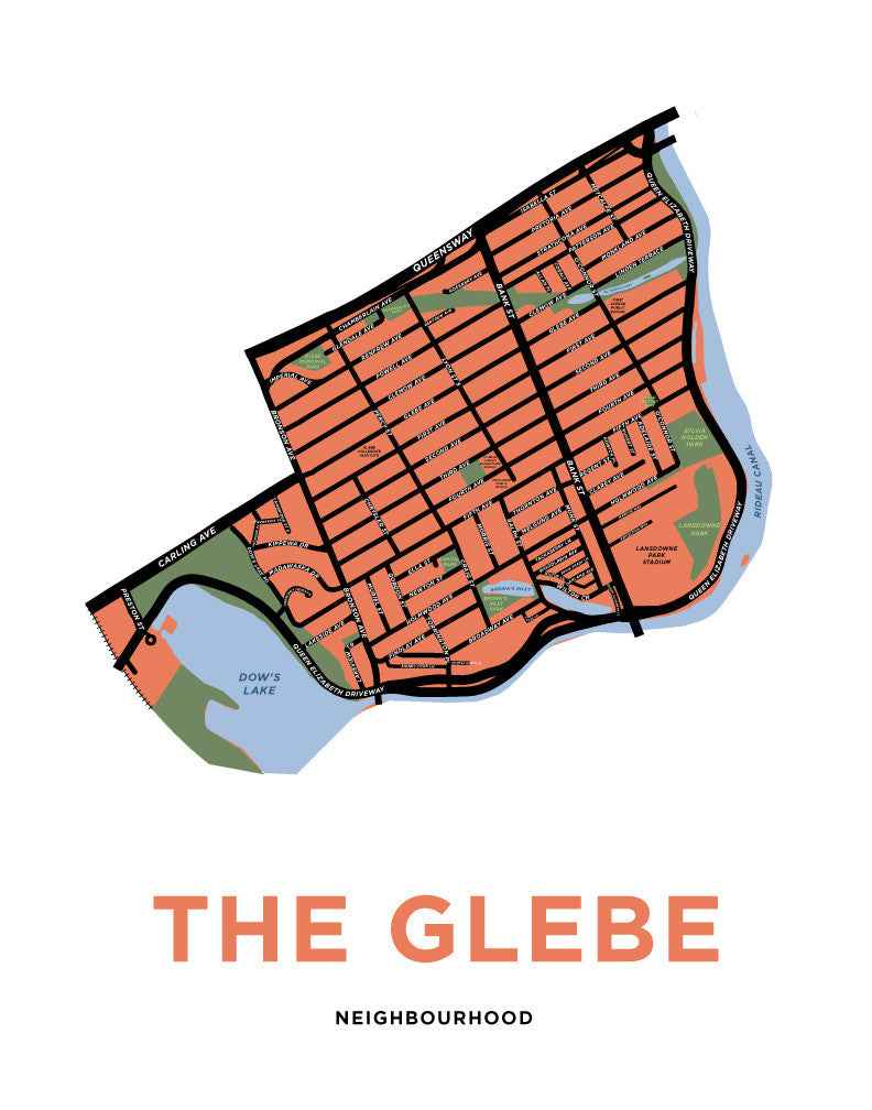 The Glebe Neighbourhood Map Print