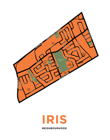 Iris Neighbourhood Map Print (Ottawa)
