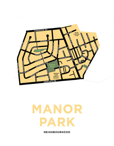 Manor Park Neighbourhood Map Print