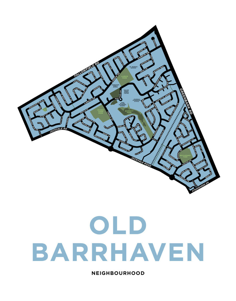 Old Barrhaven Neighbourhood Map Print
