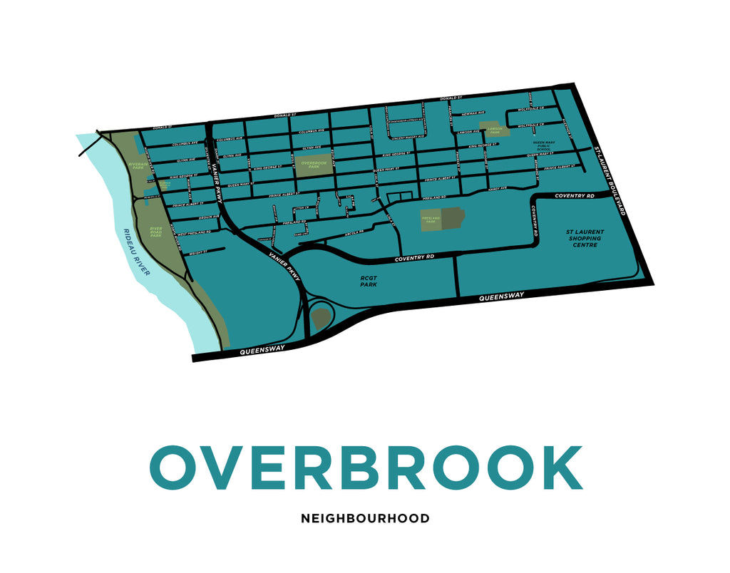 Overbrook Neighbourhood Map Print