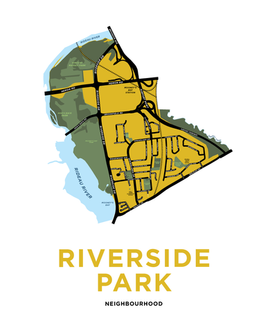 Riverside Park Neighbourhood Map Print