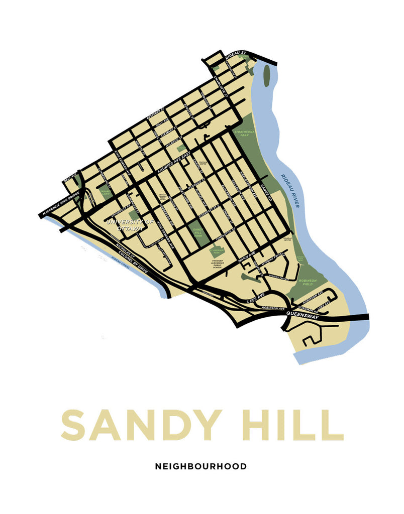 Sandy Hill Neighbourhood Map Print