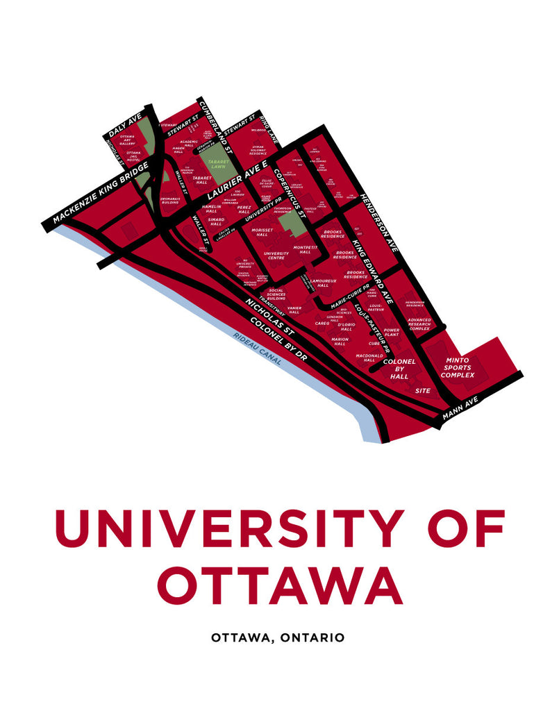 University of Ottawa Map Print
