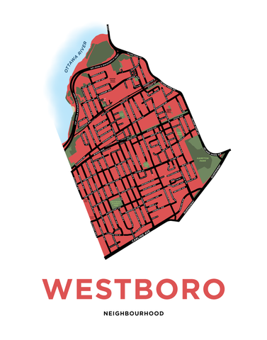 Westboro Neighbourhood Map Print