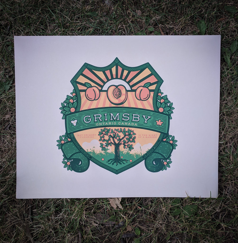 Grimsby Crest Screen Print