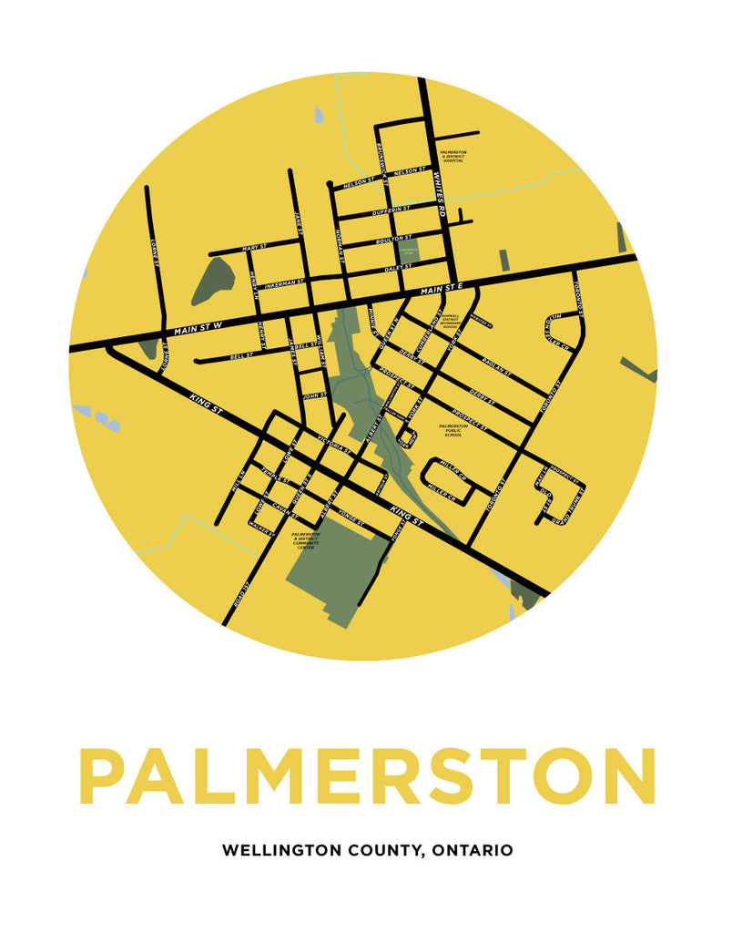 Palmerston Map Print (Wellington County, ON)