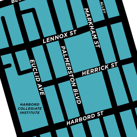 Palmerston Neighbourhood Map Print