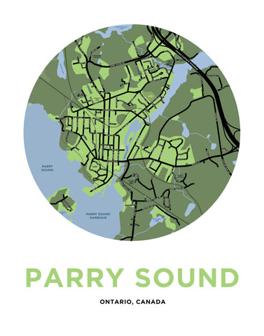 Parry Sound Map Print