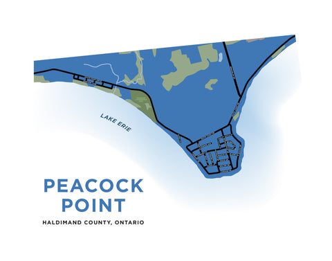 Peacock Point Map Print