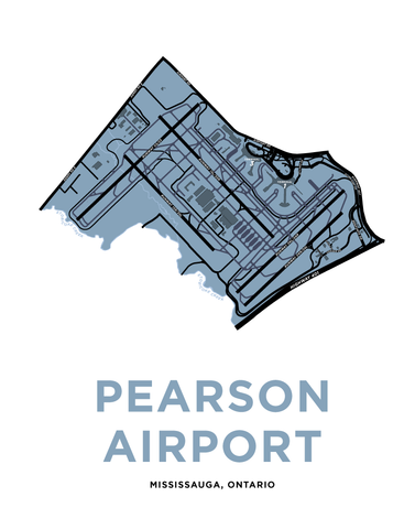 Pearson International Airport Map Print