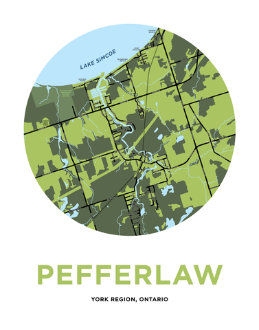 Pefferlaw Map Print