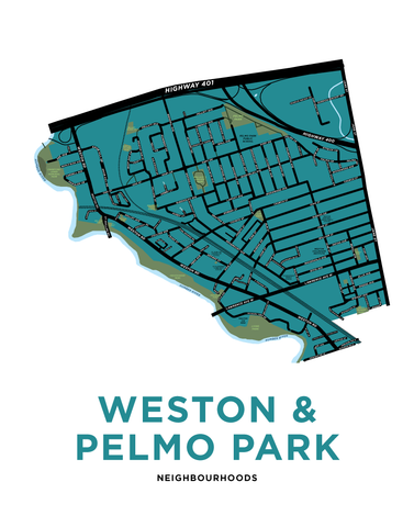 Weston & Pelmo Park Neighbourhoods Map