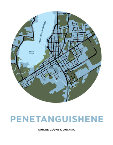 Penetanguishene Map Print