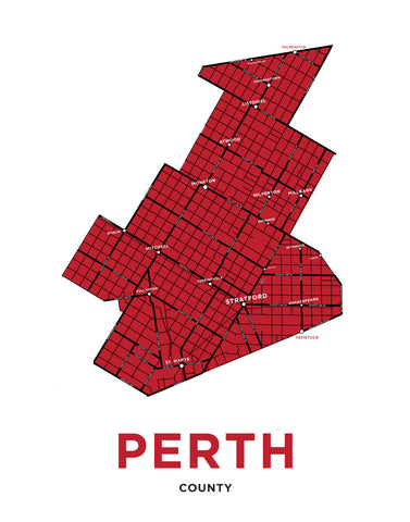 Perth County Map Print