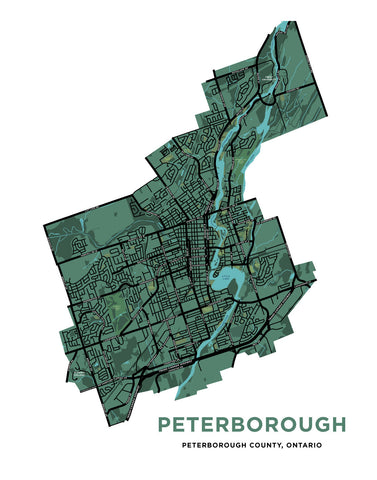 Peterborough Full City Map Print