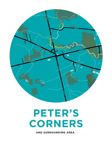 Peter's Corners Map Print