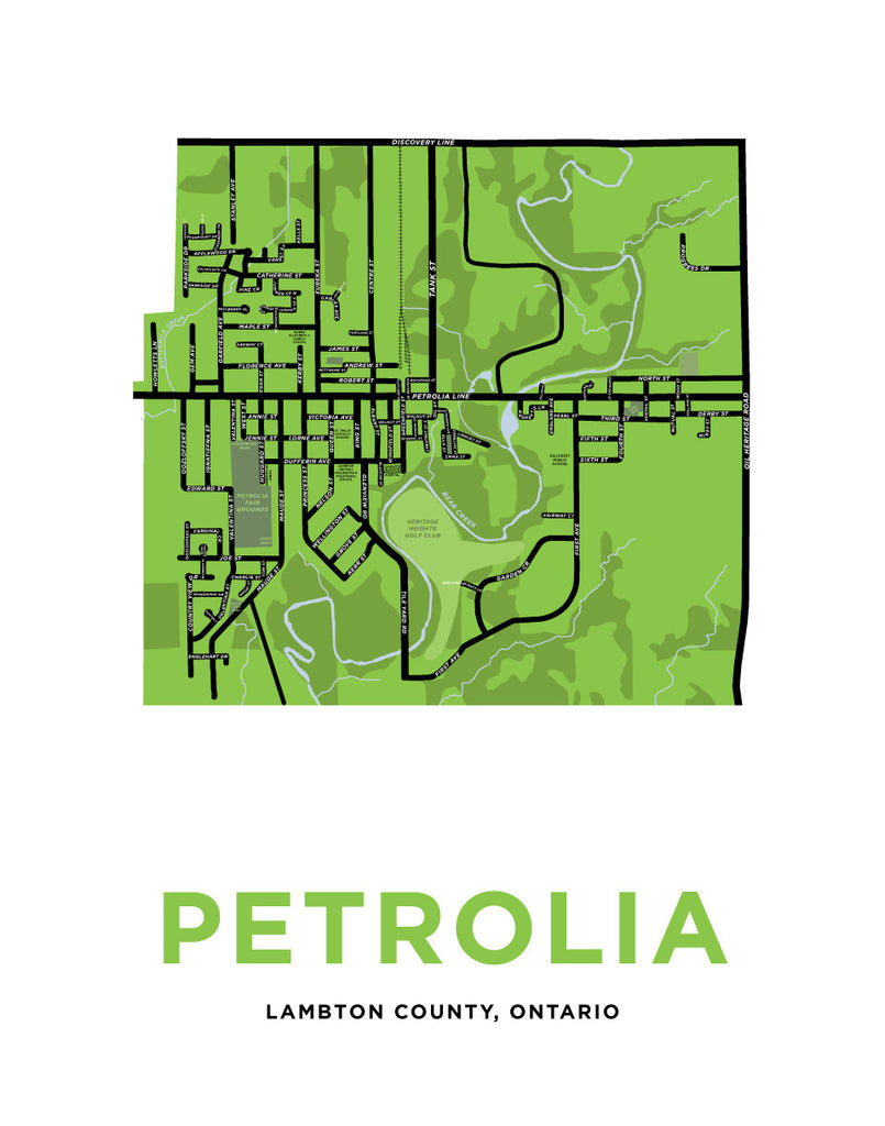 Map of Petrolia, Ontario