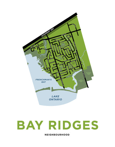 Bay Ridges Neighbourhood Map (Pickering)