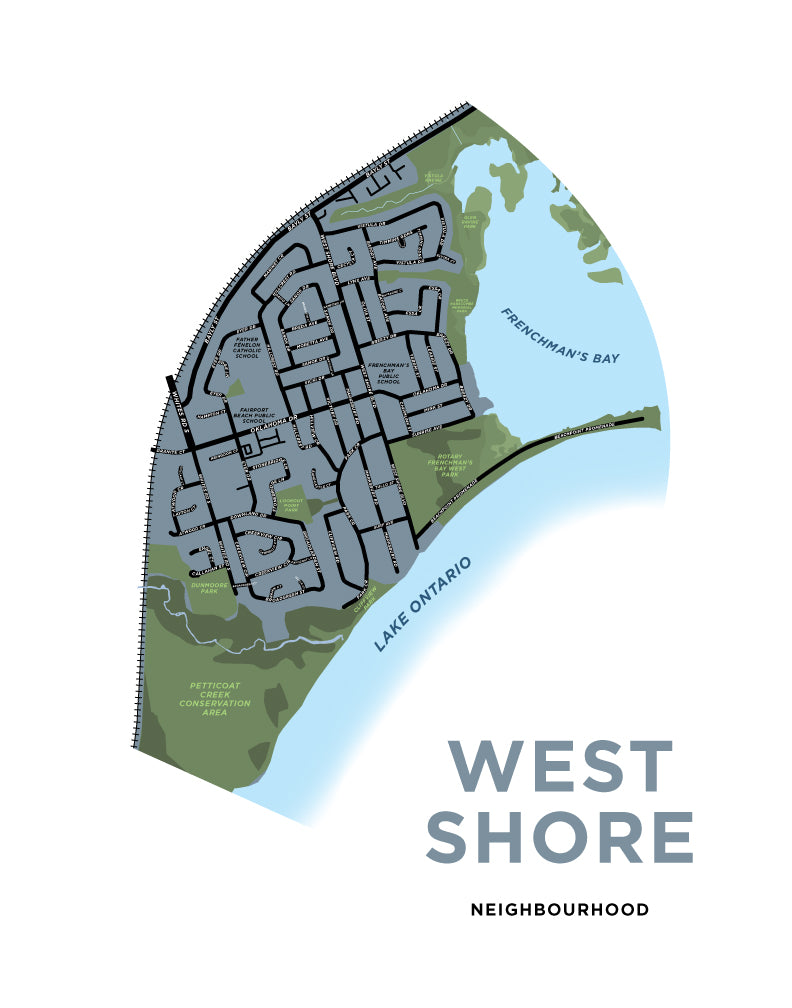 West Shore Neighbourhood Map Print