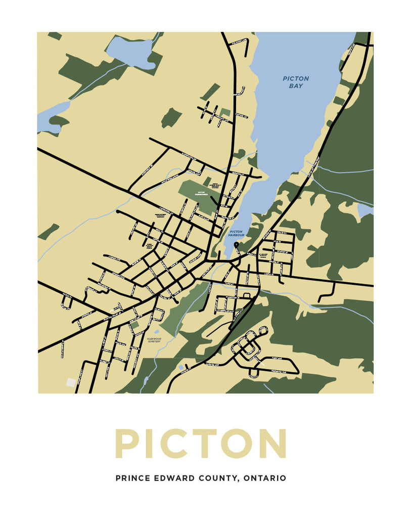 Picton, Ontario Map Print