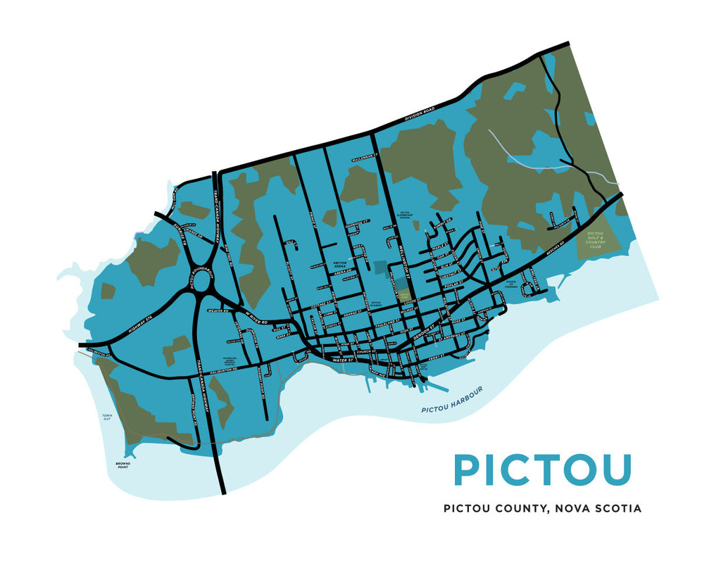 Pictou, Nova Scotia Map Print