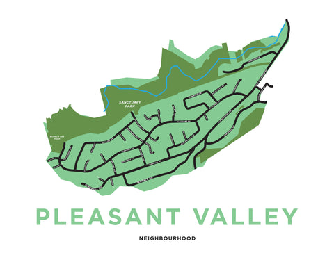 Pleasant Valley Neighbourhood Map