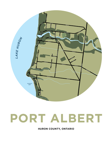 Port Albert Map Print