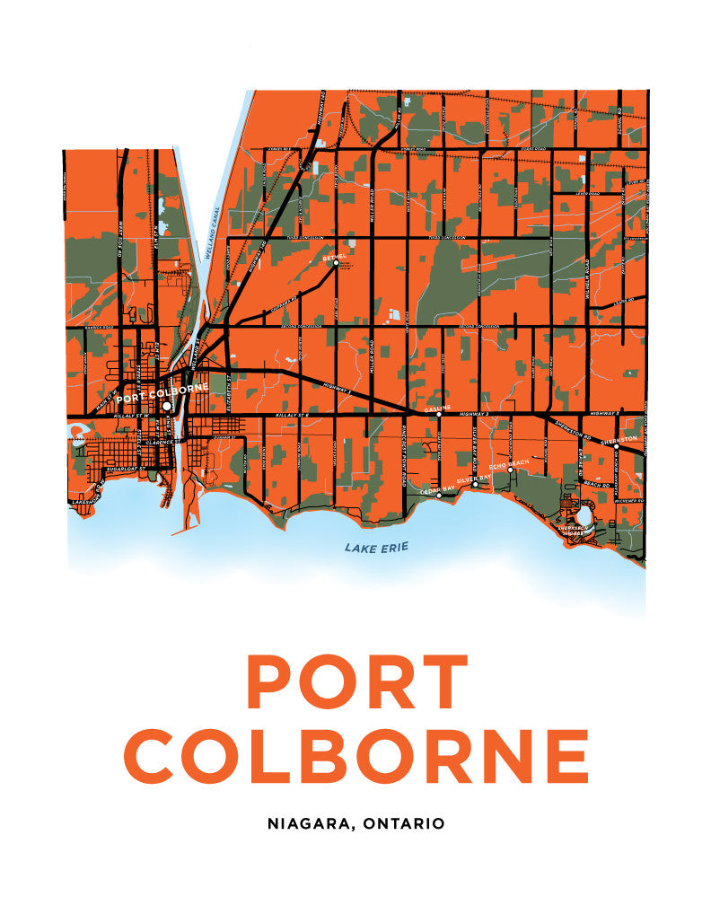 Port Colborne Map Print (Full Municipality)