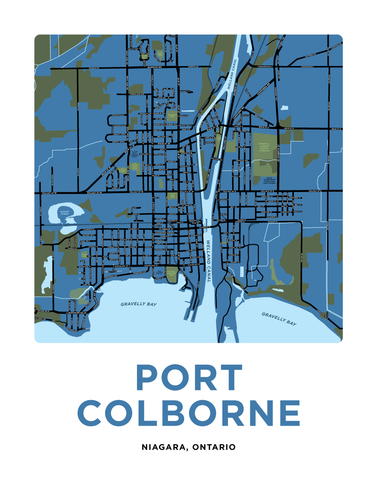 Port Colborne Map Print (Urban Area)