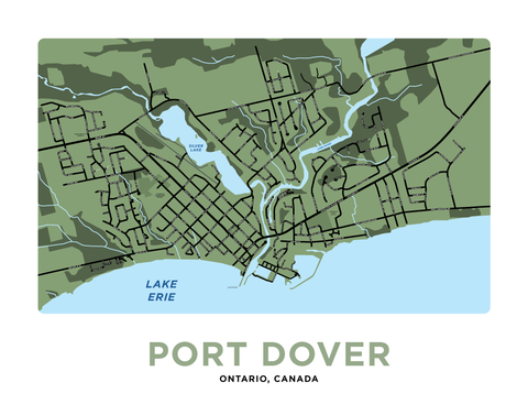 Port Dover Map Print