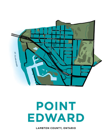Point Edward Map Print
