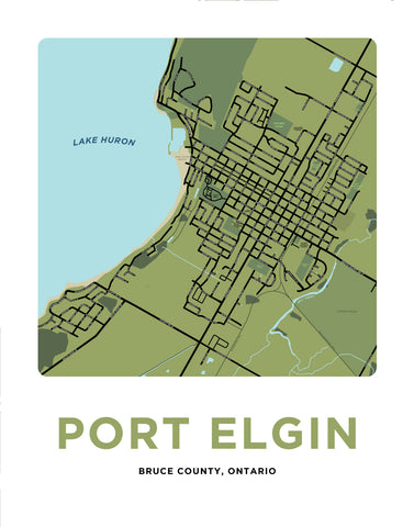 Port Elgin Map Print