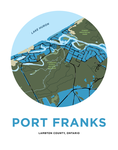 Port Franks Map Print