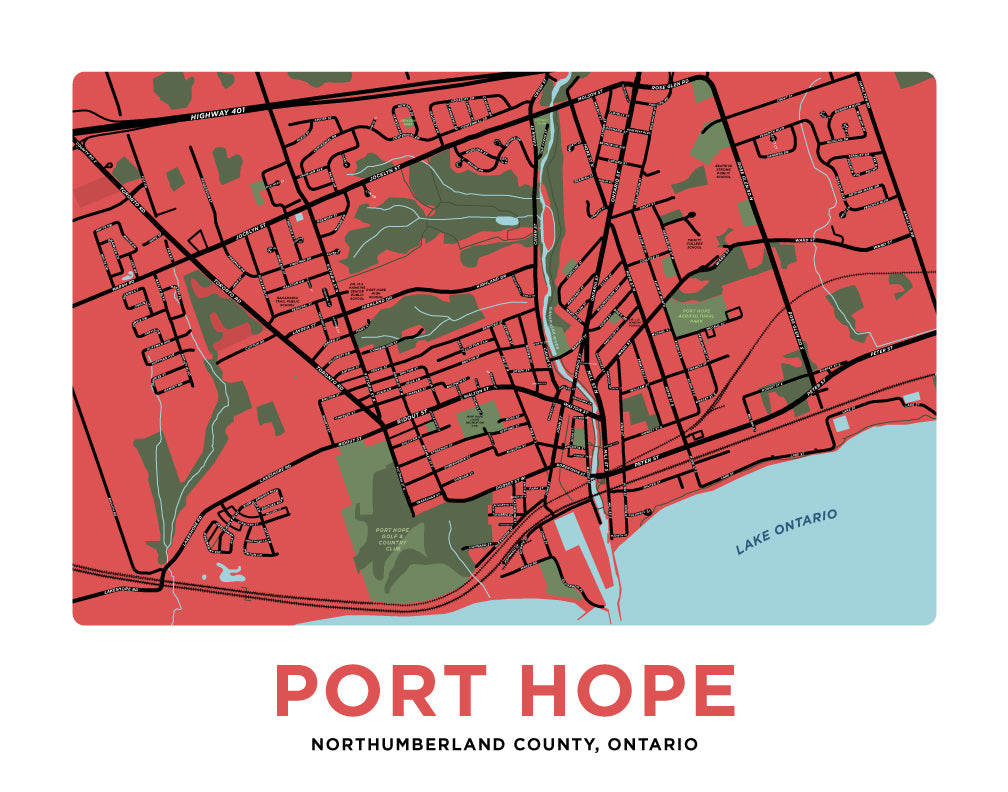 Port Hope Map Print